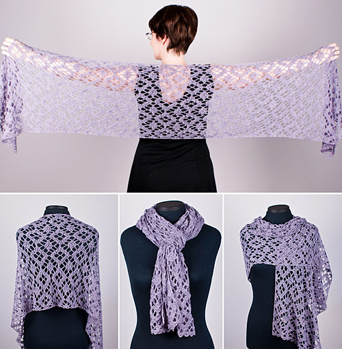 Diamond Lace Wrap crochet pattern by PlanetJune