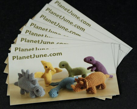 dinosaur business cards by planetjune