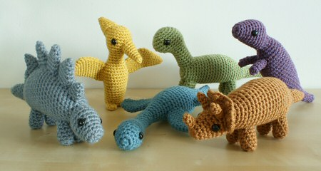 amigurumi dinosaur patterns by planetjune