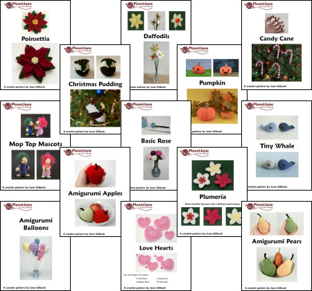donationware crochet patterns by planetjune
