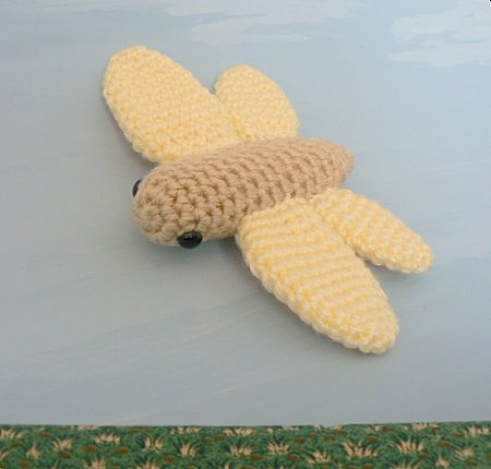 1008 Dragonfly Filet Crochet Doily Afghan Pattern