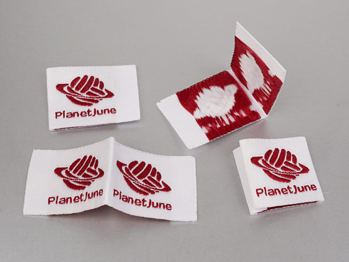 PlanetJune custom woven labels from Dutch Label Shop
