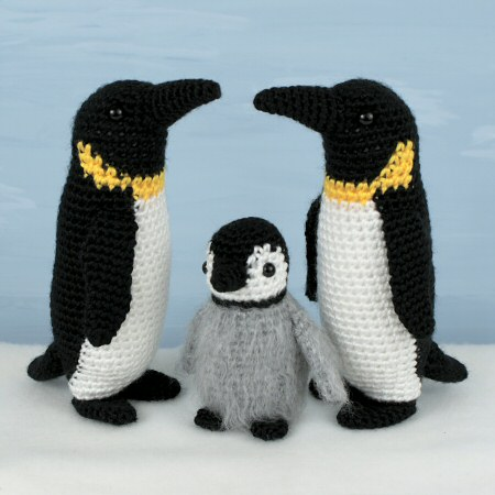 emperor penguin family crochet patterns by planetjune