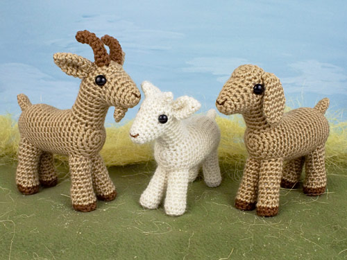 Farmyard Goats crochet pattern by PlanetJune