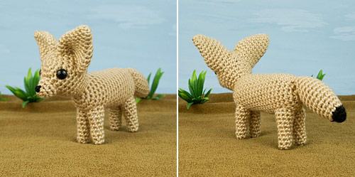 Fennec Fox crochet pattern by PlanetJune