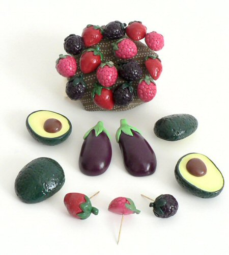 polymer clay fruit and vegetables