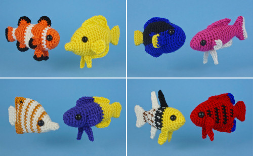 AquaAmi Tropical Fish crochet patterns by PlanetJune