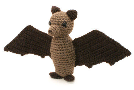 crocheted fruit bat by planetjune