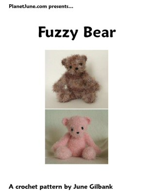 Fuzzy Bear crochet pattern by June Gilbank