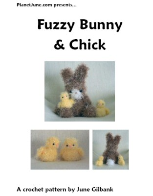 Fuzzy Bunny & Chick crochet pattern by June Gilbank