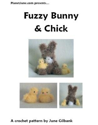 fuzzy bunny & chick crochet pattern by planetjune