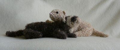 crocheted ferret friends