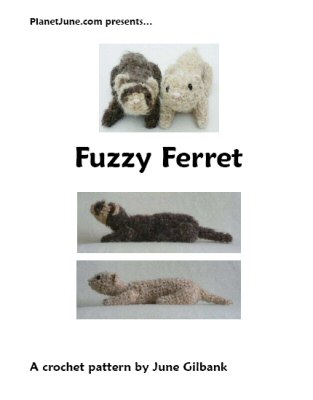 Fuzzy Ferret crochet pattern by June Gilbank