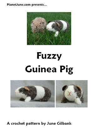Fuzzy Guinea Pig crochet pattern by June Gilbank