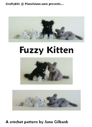Fuzzy Kitten crochet pattern by June Gilbank
