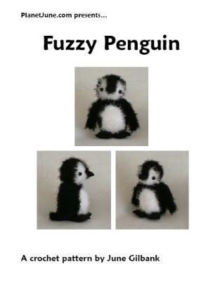 Fuzzy Penguin crochet pattern by June Gilbank