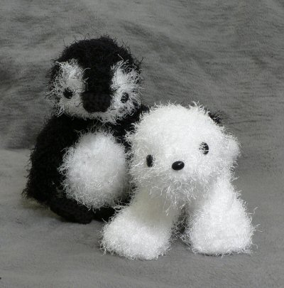 fuzzy crocheted seal
