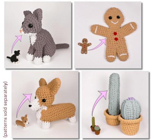 Crochet eBook: 100 Days of Mini Amigurumi VOL 1, PDF Amigurumi ... | 460x500
