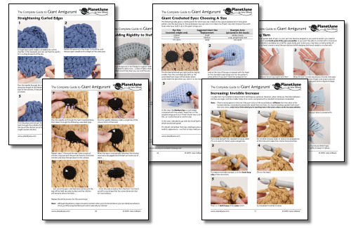 The Complete Guide to Giant Amigurumi ebook by June Gilbank  - step by step photos and instructions