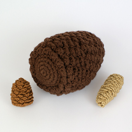 giant pine cone crochet pattern by planetjune
