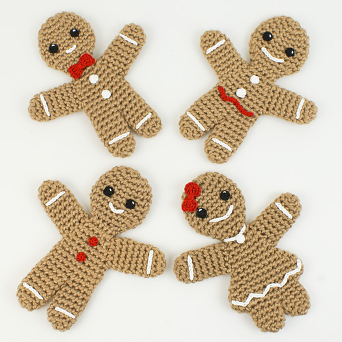 Gingerbread Family crochet patterns by PlanetJune