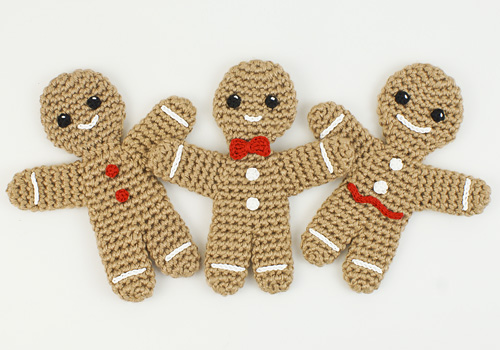Gingerbread Man crochet pattern by PlanetJune