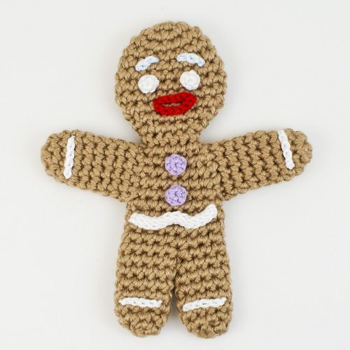 amigurumi Gingy - based on Gingerbread Man crochet pattern by PlanetJune