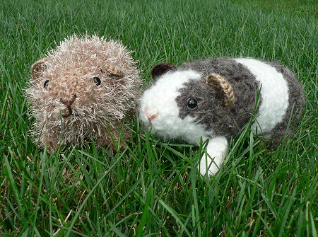 crocheted guinea pigs