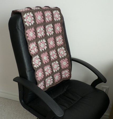 crocheted granny throw