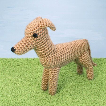 AmiDogs Greyhound (or Whippet) amigurumi crochet pattern by PlanetJune