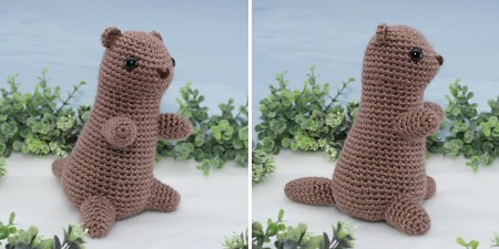 crocheted amigurumi groundhog by planetjune