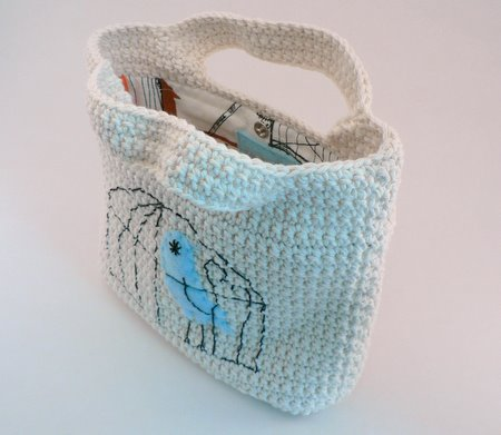 crocheted handbag by futuregirl