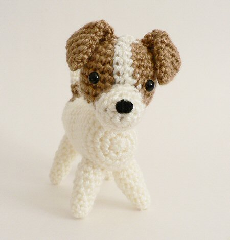 crocheted jack russell terrier
