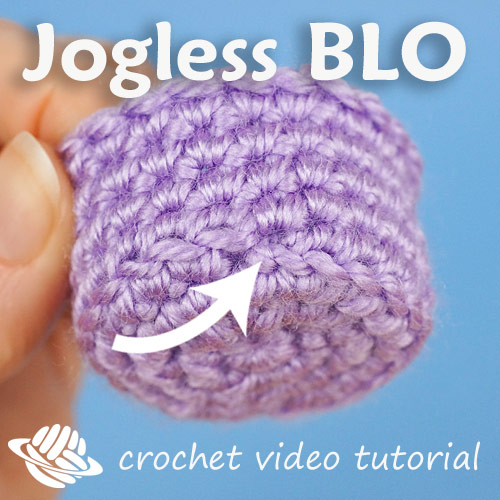 jogless back loop only round for amigurumi by planetjune