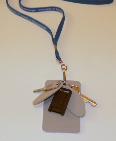 stop keys from jingling with craft foam