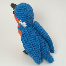 crocheted kingfisher by planetjune