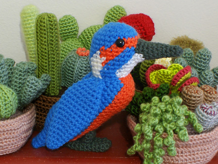 amigurumi kingfisher by planetjune