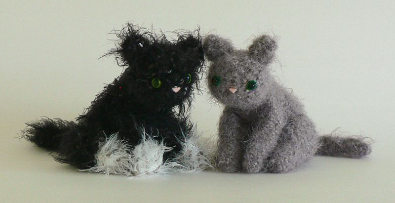 crocheted kittens
