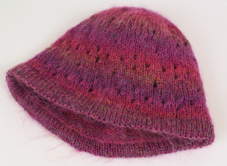 knitted lace hat