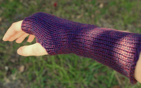 knitted wristwarmers by planetjune