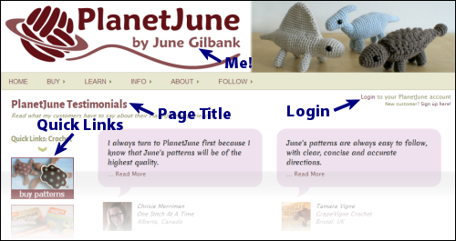 new PlanetJune layout top
