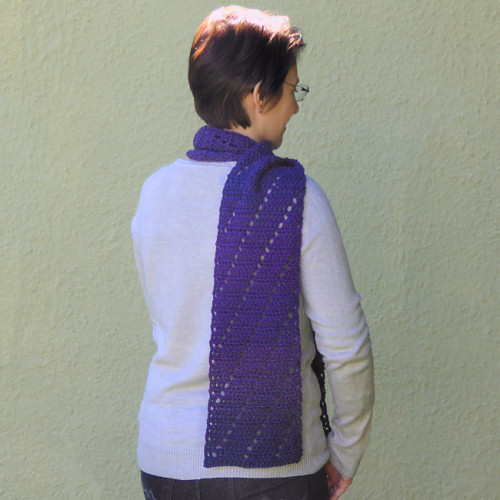 PlanetJune Accessories Leaning Ladders Scarf crochet pattern