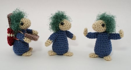 crocheted lemmings by planetjune