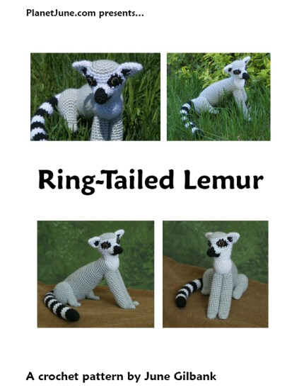 crocheted ring-tailed lemur by planetjune