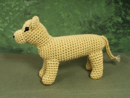 crocheted lioness by planetjune