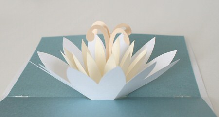lotus blossom pop-up card