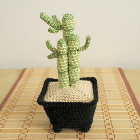 crocheted lucky bamboo by planetjune