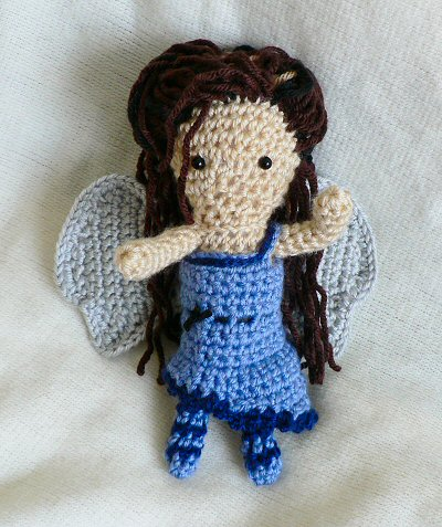 crocheted fairy (front)