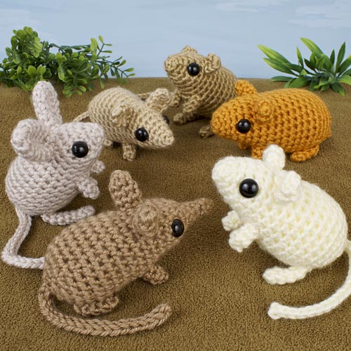 Mini Mammals 1 & 2 crochet patterns by PlanetJune