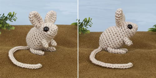 Mini Mammals crochet pattern by PlanetJune - Jerboa